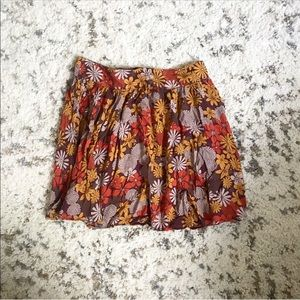 Forever 21 floral print high waisted skirt